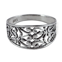 Swirling Silver Ring on Sale for $19.99 at HippieShop.com