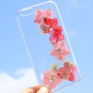summer case 100 handmade dried flowers cover for iphone 7 7plus iphone 6 6s plus gift box b61  number 1