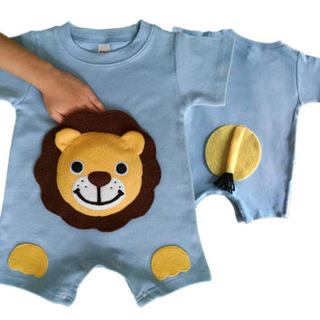 lion Onesuit, zoo birthday party, baby romper, baby boy romper, baby boy Onesuit, baby boy clothes, baby clothes, baby boy gift, animal Onesuit