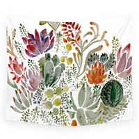 Society6 Succulents Wall Tapestry