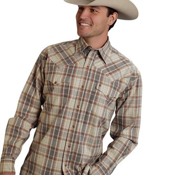 Stetson Original Rugged Two Pocket Flannel Snap Shirt