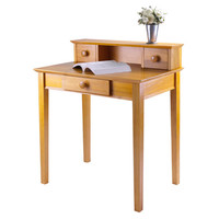 Studio Writing Desk with Hutch