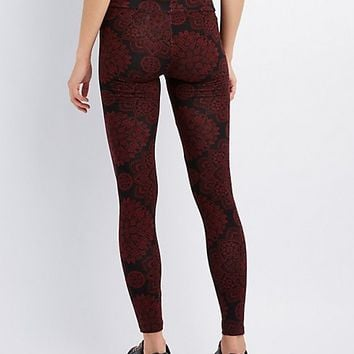 Paisley High-Waist Leggings | Charlotte Russe