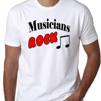 Musicians Rock T-Shirt - Great gift for music lovers.