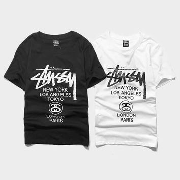 cc kuyou Stussy World Tour T-Shirt