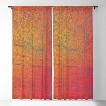 Auric Waves Blackout Curtain by duckyb