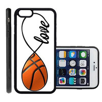 RCGrafix Brand Basketball Apple Iphone 6 Plus Protective Cell Phone Case Cover - Fits Apple Iphone 6 Plus