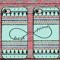 Aztec Infinity Best Friends Matching Pair Couple Hard Skin Cell Phone Cases for iPhone 6 6 plus 5c 5s 5 4 4s