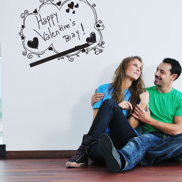 Vinyl Wall Decal Sticker Valentines Sketch #1045
