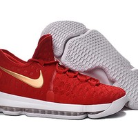 2016 Nike KD 9 Red/White Gold Men's Basketball Shoes