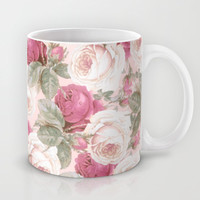 Roses floral pattern Mug by Mercedes