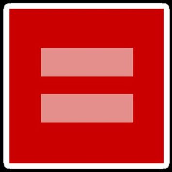 Sticker! Pink & Red Equal Sign for Human Rights Campaign & Gay Marriage by RedPine