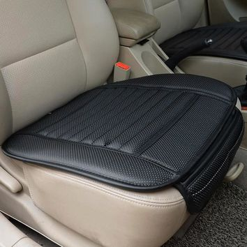 PU Leather Car Seat Cover Four Seasons Anti Slip Mat Car Seat Cushion Universal Size Protector Car Accessories