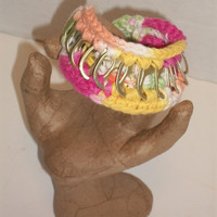 Crochet Pop Tab  Friendship Bracelet - Lime Green, Yellow, Pink and White - Fashion Accessories - Ready to Ship
