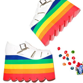 Current Mood Double Rainbow Skylar Sandals