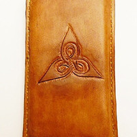 Vegetable Leather i phone 6 case Celtic pattern