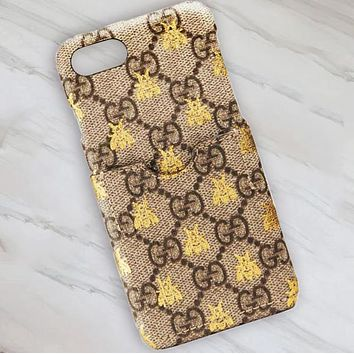 GUCCI Small Yellow Bee Iphone Case Iphone 6 / 6s / 6p / 7p / 7/8 / 8p / X