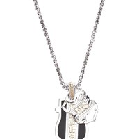 Stephen Webster silver, onyx and yellow gold dogtag necklace
