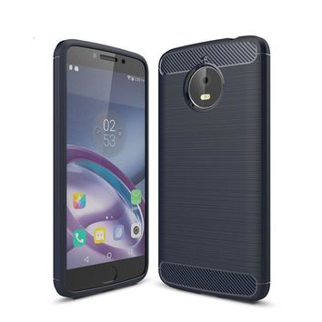For Motorola G5S G5S Plus case Brushed Carbon Fiber Soft TPU Drawing Back Cover For Moto E4 G4 G5 Plus Silicone Coque For C Plus