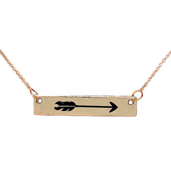 Simply Southern Necklace Arrow Bar