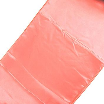 Satin Fabric Table Runner, Coral, 14-Inch x 108-Inch