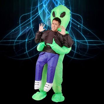 Inflatable Costumes Alien For Adult Unisex Blow UP Jumpsuit Christmas Party Cosplay Purim Mascot Halloween Fancy Dress One Size