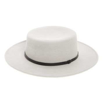 Sole Society Wool Boater Hat | Nordstrom