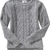 Old Navy Girls Cable Knit Sweater