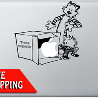 Halloween Sale - Hobbes Transmogrifier Macbook Decal - Mac Decal - Laptop Sticker - Mac Sitcker - Comic Decal