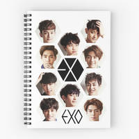 'EXO - Group Hex' Spiral Notebook by rainbow321