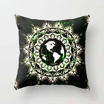 Earth Spirit Throw Pillow by Inspired Images