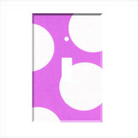 Light Switch Cover - Light Switch Plate Huge White Purple Polka Dot