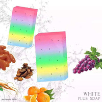 Handmade Rainbow Soap Facial Skin Fruit Essential Oil Soap Whiten Moisturizing
