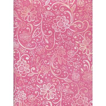 Pink Floral Backdrop - 7236