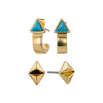 House of Harlow 1960 Telluride Earrings Set Turquoise - Zappos.com Free Shipping BOTH Ways