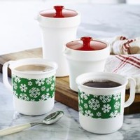 Tupperware | Snowflake Coffee Mugs and Sugar and Creamer Set