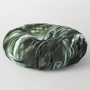 Tropical leaves 03 Floor Pillow by VanessaGF