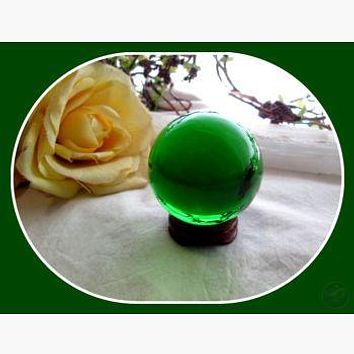 Mystic Green Healing Crystal Ball & Stand 50mm