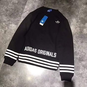 ADIDAS Woman Men Fashion zipper Top Sweater Pullover