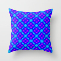 Sqaure Blue Throw Pillow by Alice Gosling | Society6