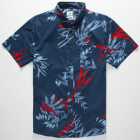 Quiksilver Scorpion Forest Mens Shirt Navy  In Sizes