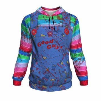 Chucky Good Guy Inspired All Over Print Hoodie