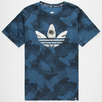 Adidas Sharked Out Mens T-Shirt Blue Combo  In Sizes