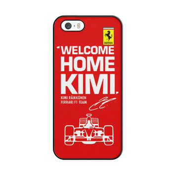 Kimi Raikkonen Welcome Home Ferrari F1 Team iPhone 5|5S Case