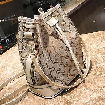 "Hot Sale ""GUCCI"" Trending Women Stylish Canvas Backpack Bookbag Daypack Shoulder Bag Crossbody Satchel Golden"
