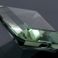 Green Amethyst: 28.74ct Square Emerald Shape Gemstone, Faceted Mint Green Prasiolite, Vermarine, Lime Citrine Gem, Creative Designers 20842