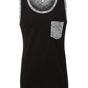 LE3NO Mens Premium Casual Tank Top