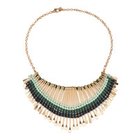 Blue Lagoon Spike Necklace
