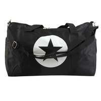 Large Nylon Material Waterproof Travel Bag Gym Bag Five-Pointed Star  Large Capacity Women And Men Bags free shipping