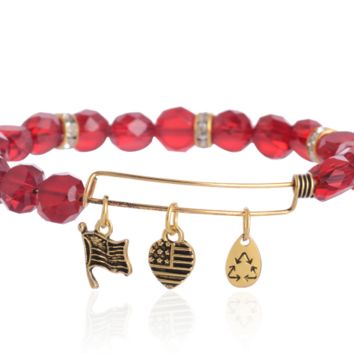 Alex and Ani  style charm bracelet,a perfect gift !